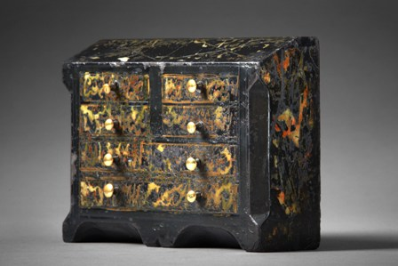 Welsh folk art miniature slate model bureau Sold