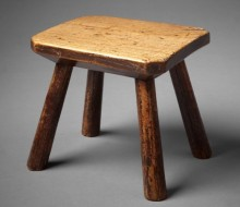 stool primitive stool milking stool wales antiques ferryside