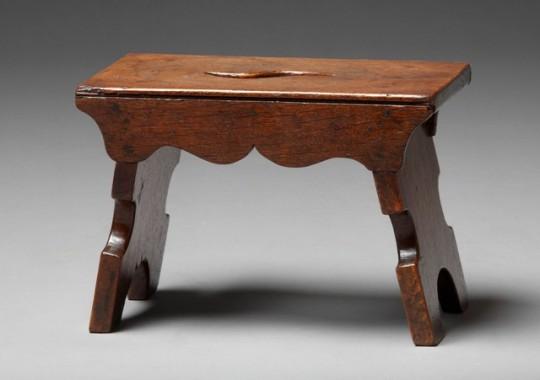 Small oak stool sold