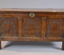 oak coffer early antique chest