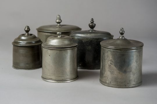 Pewter tobacco boxes Sold