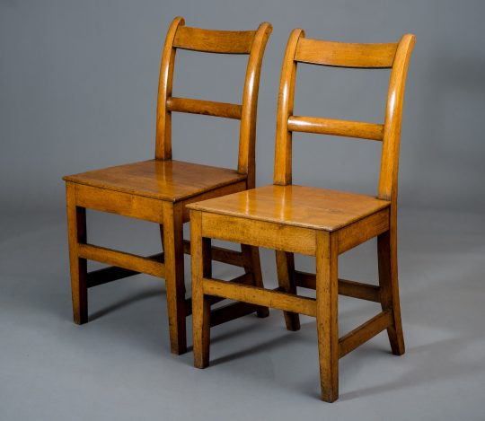 Pair of oak chairs from Narberth