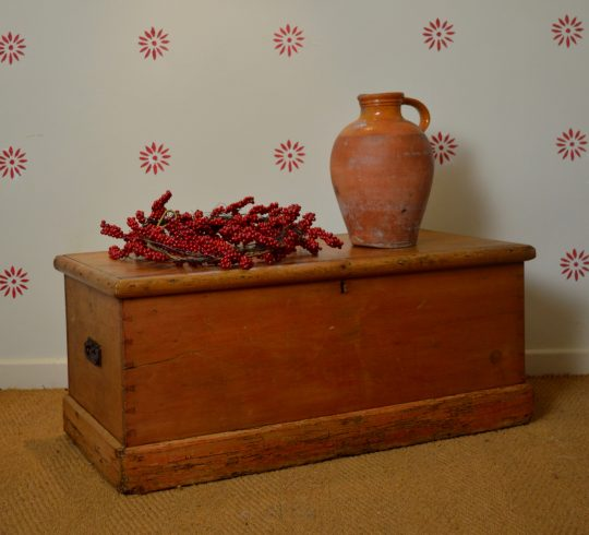 Victorian pine blanket box #2