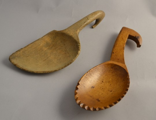 Welsh sycamore butter scoops