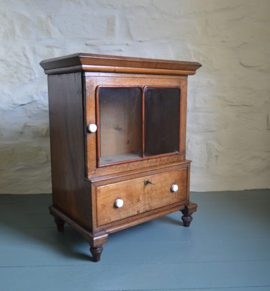 Small Welsh oak table top cabinet Sold