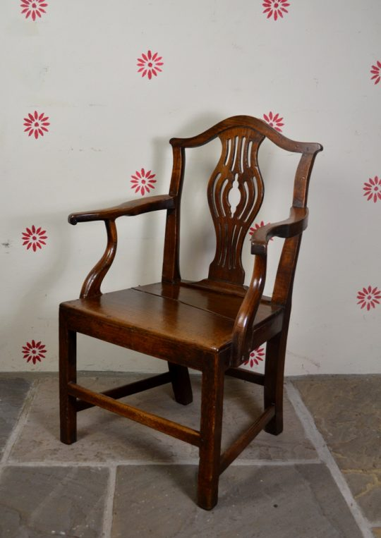 Oak arm chair Sold
