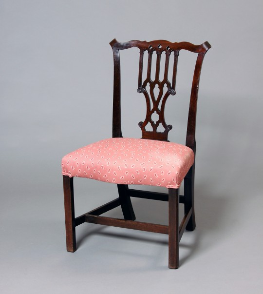 "Mahogany ""Chippendale"" style side chair"