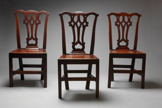 Set of three Georgian chairs