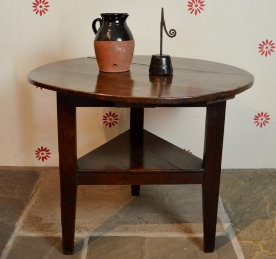 Oak cricket table from North Wales Sold