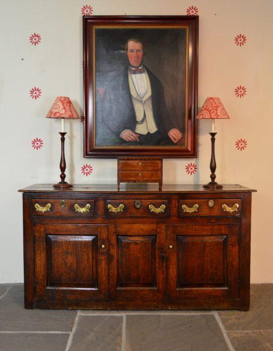 Welsh oak dresser base