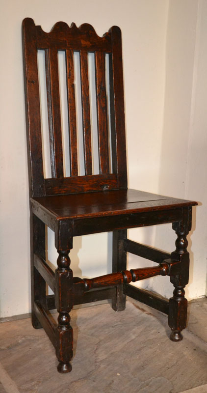 early welsh oak chair back stool