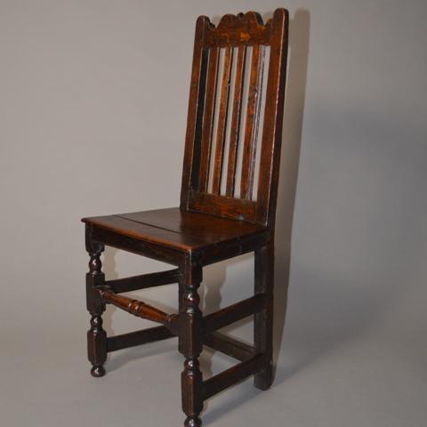 Early Welsh oak chair Sold