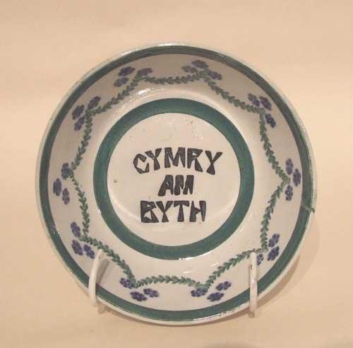 Cymru am Byth spongeware bowl