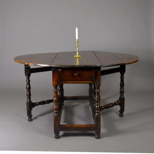 17th century oak gate-leg table