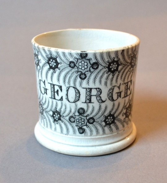 19th century pottery George mug SOLD