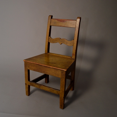 Grained side chair