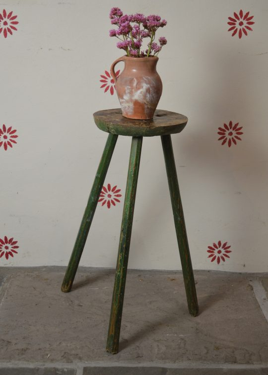 Painted primitive cricket table Sold