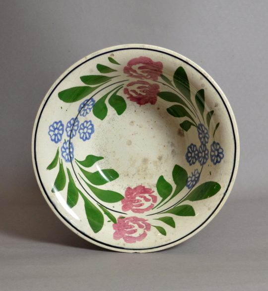 Large hand painted & sponged bowl #17 Sold