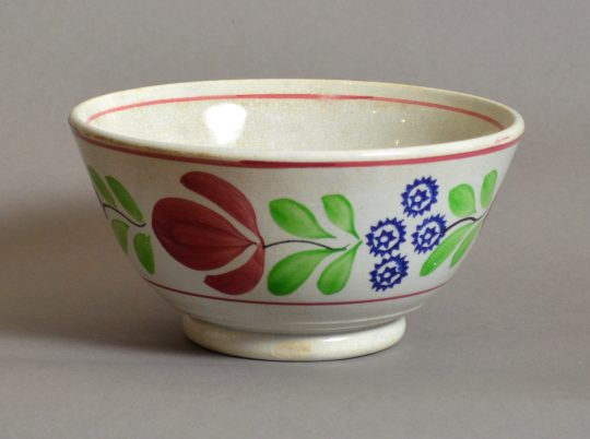 Hand painted & sponged bowl #3