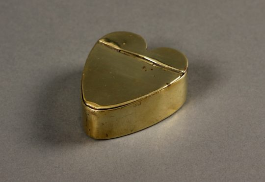 Brass heart-shaped box Sold