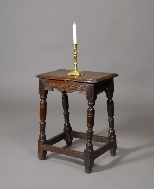 17th century carved oak joint stool Sold