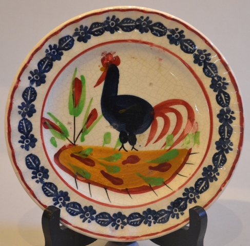 Small Llanelly pottery cockerel plate Sold