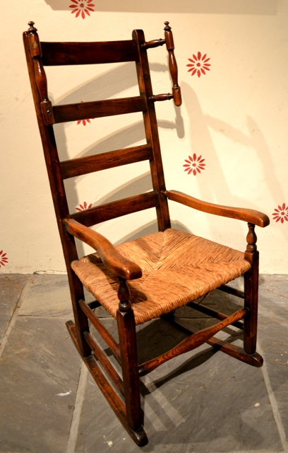 nursing chair knitting chair ladder back rocker welsh antiques