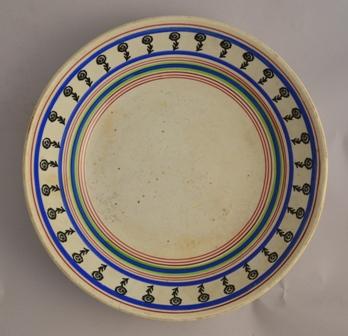 Large sponge decorated bowl Sold