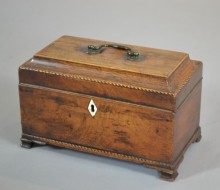 antique tea caddy treen