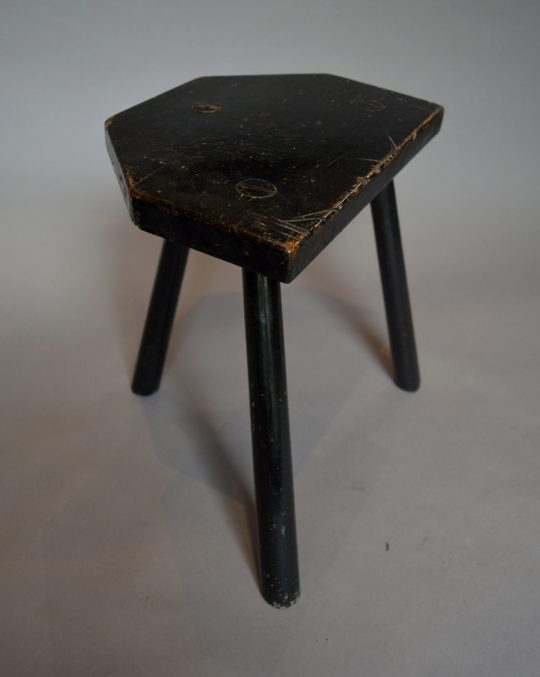 Painted Welsh stool