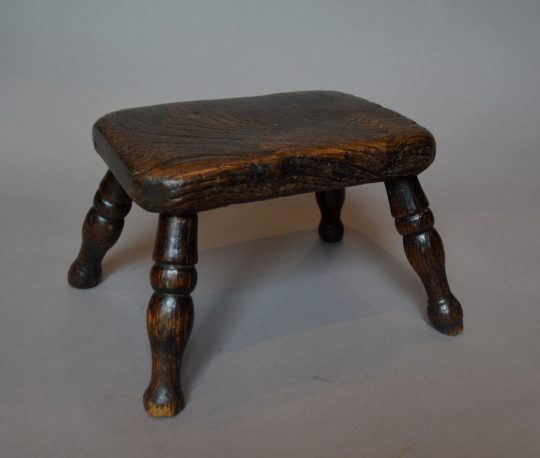 Small ash & elm stool/candle stand