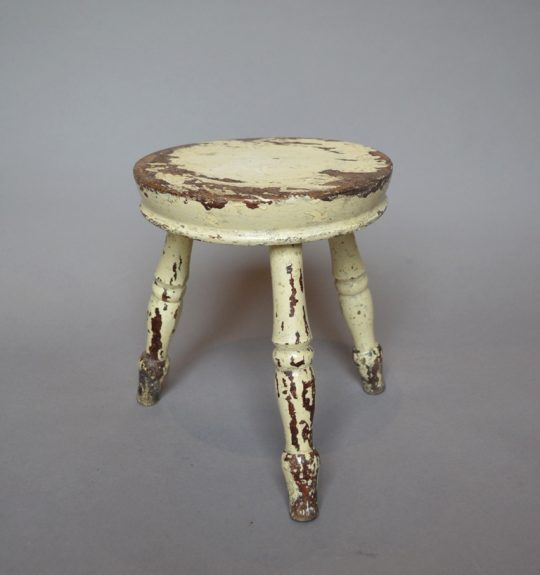 Small painted stool