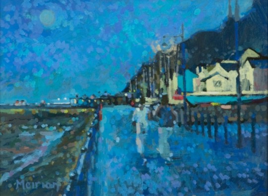 Joggers late Afternoon Mumbles by Meirion Jones