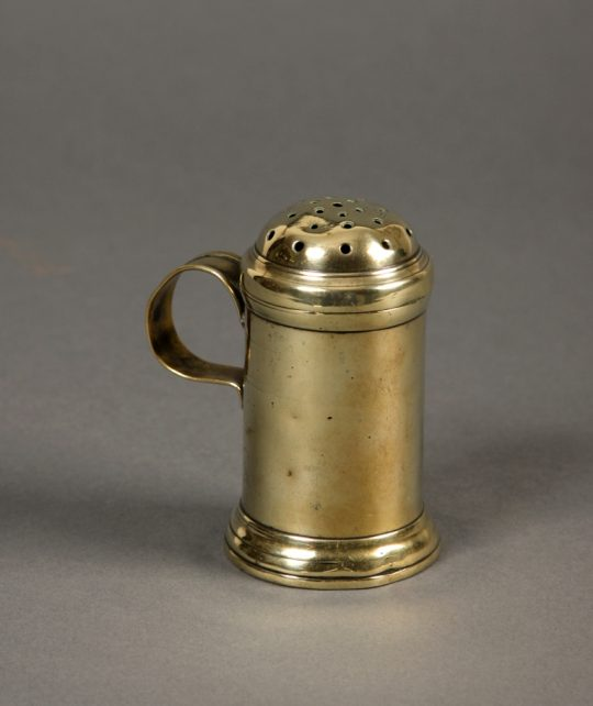 Georgian brass muffineer