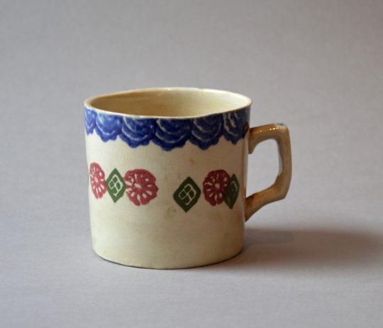 Welsh spongeware mug (A)