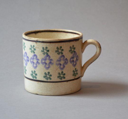 Spongeware pottery mug Sold