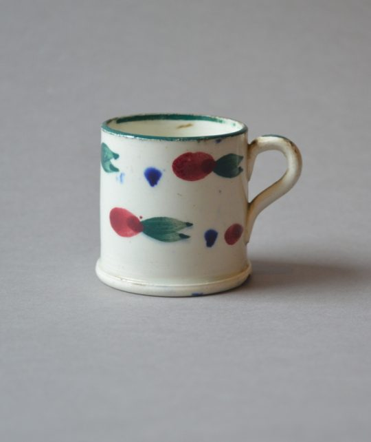 Tiny hand painted mug