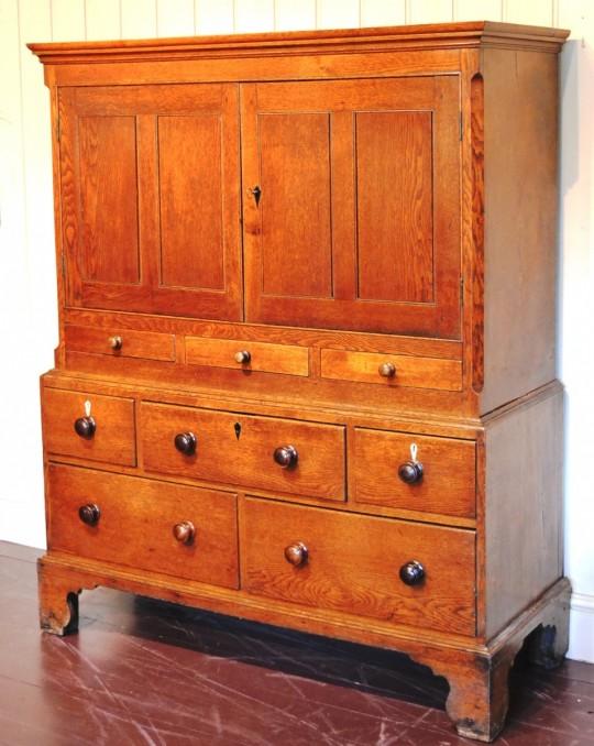 Small oak Pembrokeshire cupboard. Sold
