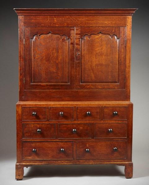 Welsh oak press cupboard Sold