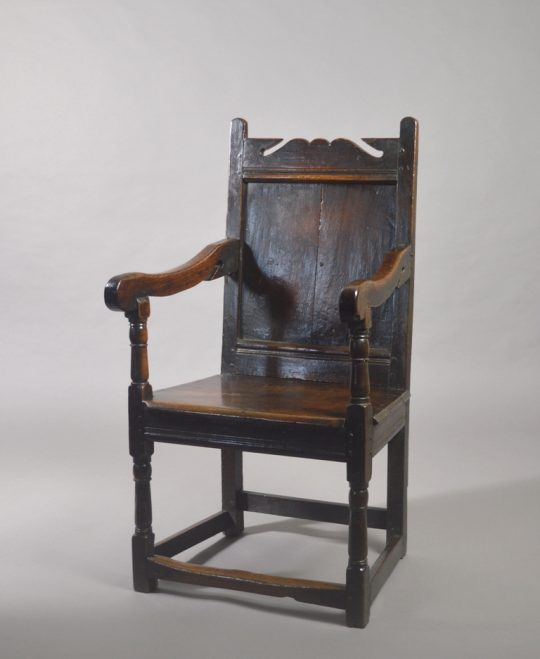 17th century oak armchair Sold