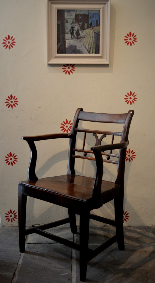 Welsh oak arm chair Sold
