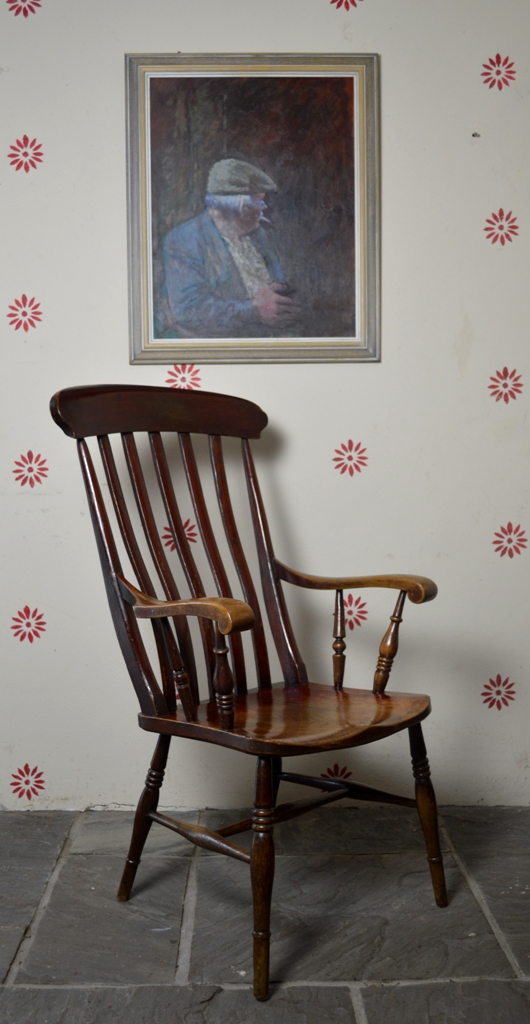 Painted Windsor arm chair