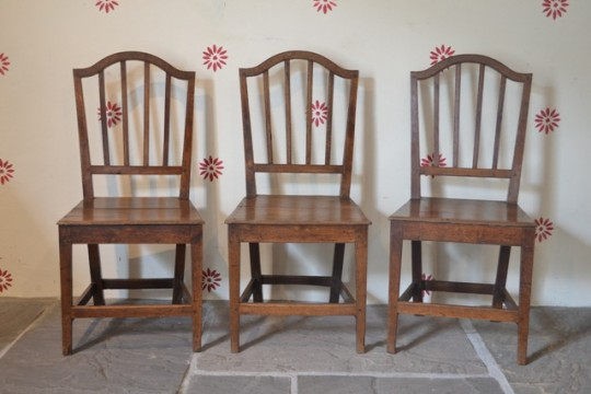 Set of three Welsh chairs Sold