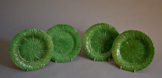 Set of four Swansea plates