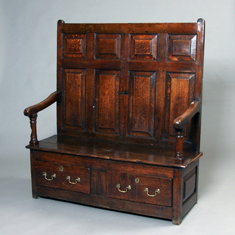 Welsh oak settle Sold