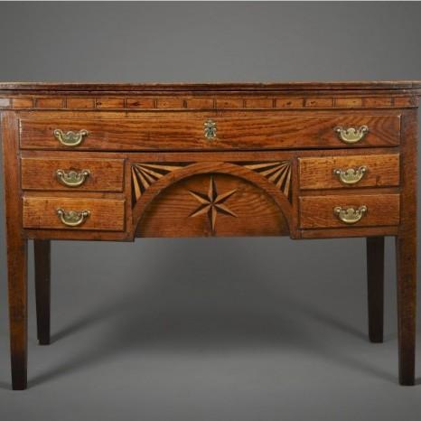 Wonderful inlaid Welsh oak side table Sold