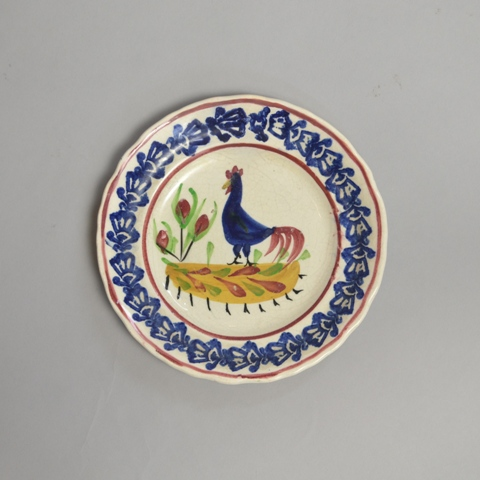 Small Llanelly cockerel plate.