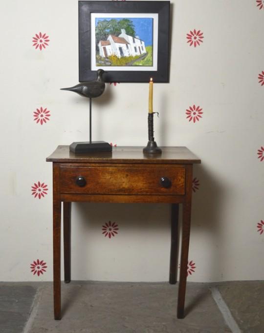 Small Welsh oak side table Sold
