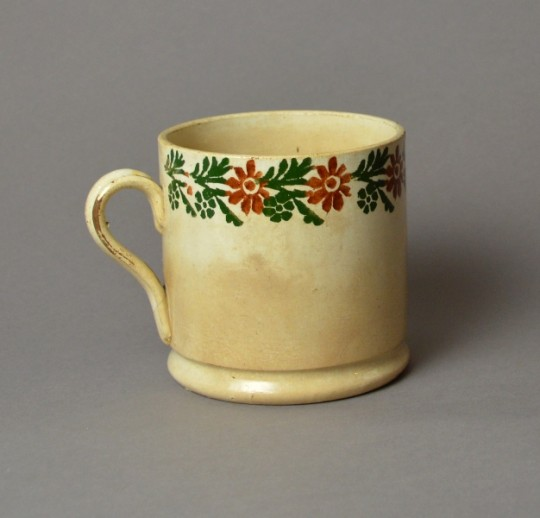 Large Victorian Irish spongeware mug Sold