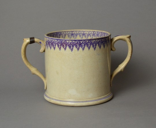 Victorian Spongeware two handled mug Sold